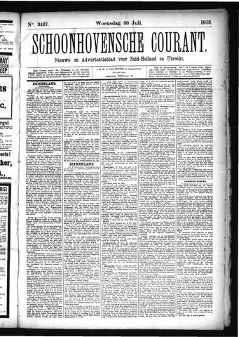Schoonhovensche Courant 1913-07-30