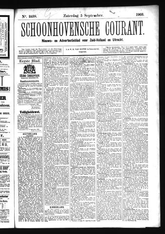 Schoonhovensche Courant 1903-09-05