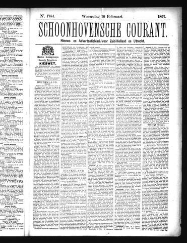 Schoonhovensche Courant 1897-02-10