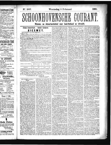 Schoonhovensche Courant 1898-02-02