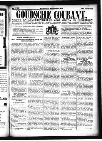 Goudsche Courant 1931-11-09