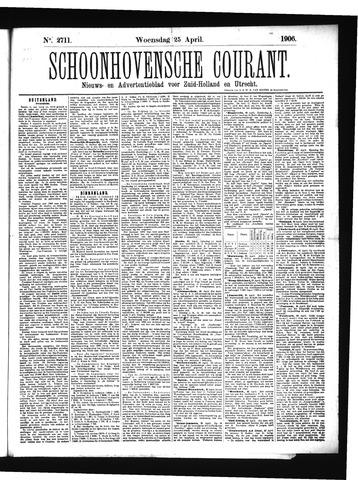Schoonhovensche Courant 1906-04-25