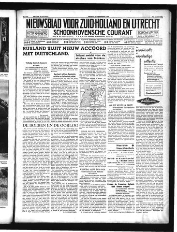 Schoonhovensche Courant 1939-09-29
