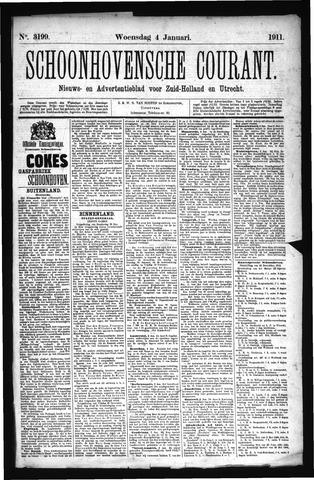 Schoonhovensche Courant 1911-01-04