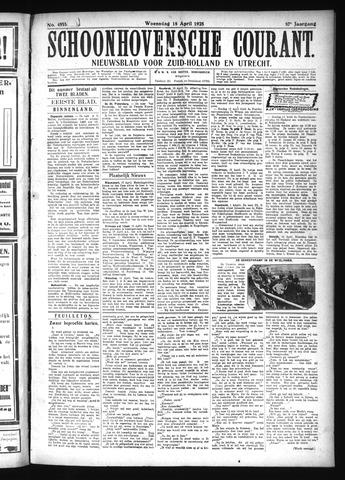 Schoonhovensche Courant 1925-04-15