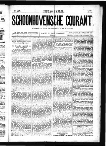 Schoonhovensche Courant 1877-04-01
