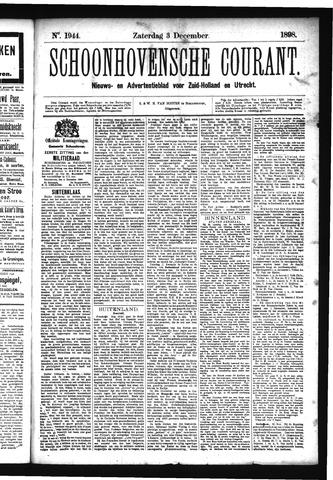Schoonhovensche Courant 1898-12-03