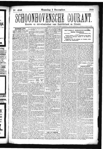 Schoonhovensche Courant 1919-12-01