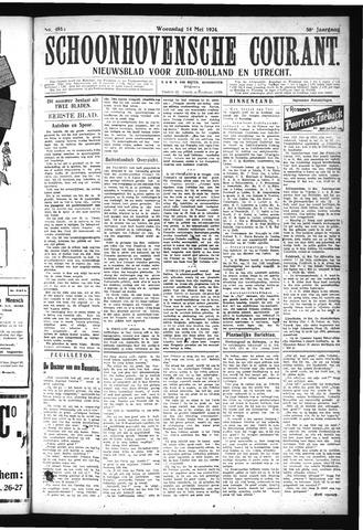 Schoonhovensche Courant 1924-05-14
