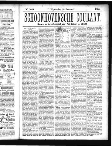 Schoonhovensche Courant 1896-01-29