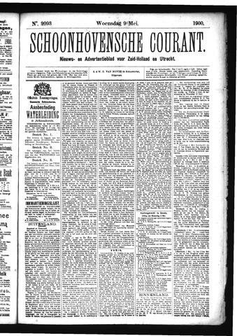 Schoonhovensche Courant 1900-05-09