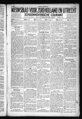 Schoonhovensche Courant 1930-10-15