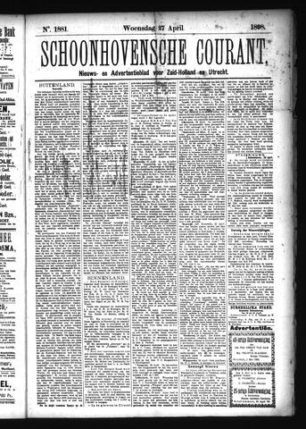 Schoonhovensche Courant 1898-04-27
