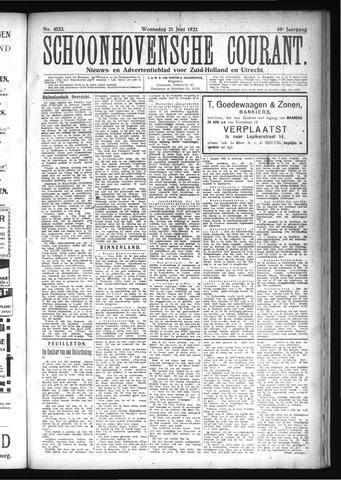 Schoonhovensche Courant 1922-06-21