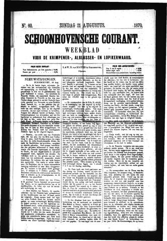 Schoonhovensche Courant 1870-08-21