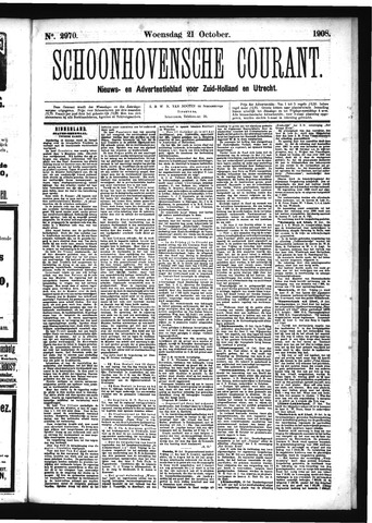 Schoonhovensche Courant 1908-10-21