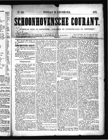 Schoonhovensche Courant 1872-12-29