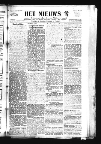 Schoonhovensche Courant 1945-09-07