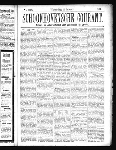Schoonhovensche Courant 1895-01-16