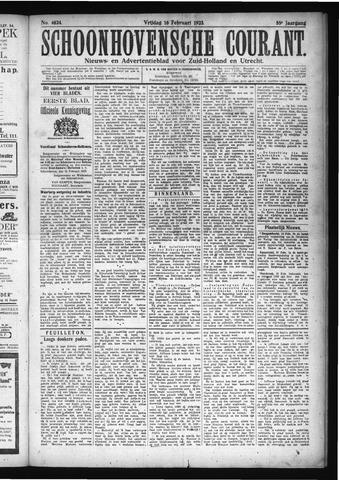 Schoonhovensche Courant 1923-02-16