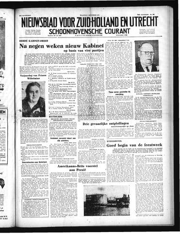 Schoonhovensche Courant 1952-09-01