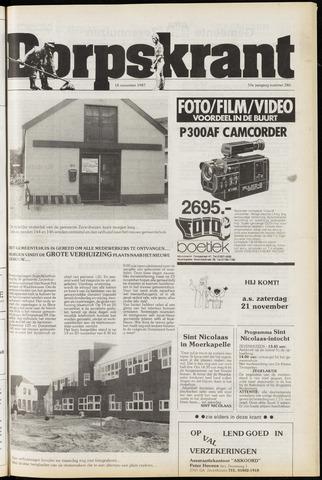 Dorpskrant 1987-11-18
