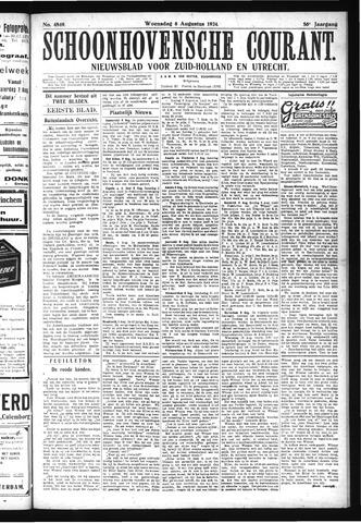 Schoonhovensche Courant 1924-08-06
