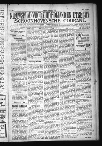 Schoonhovensche Courant 1929-01-21