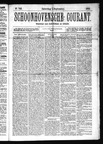 Schoonhovensche Courant 1883-09-01