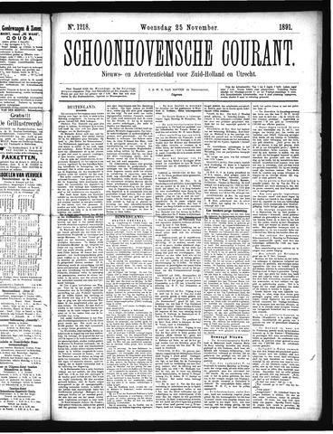 Schoonhovensche Courant 1891-11-25