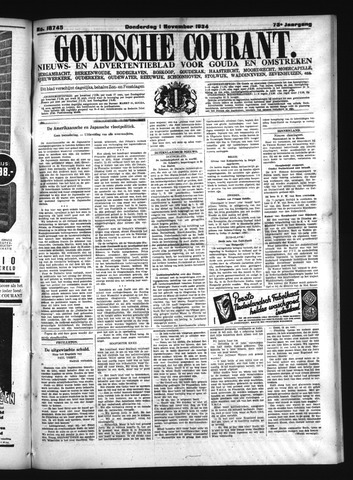Goudsche Courant 1934-11-01