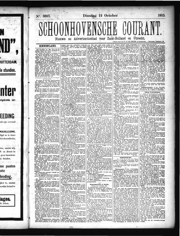 Schoonhovensche Courant 1915-10-12