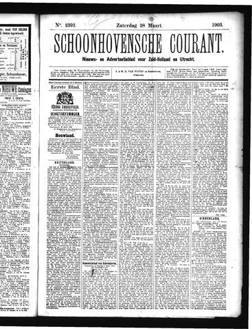 Schoonhovensche Courant 1903-03-28