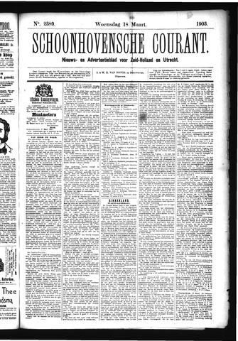 Schoonhovensche Courant 1903-03-18