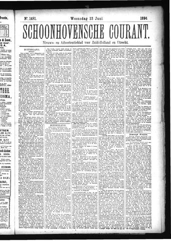 Schoonhovensche Courant 1894-06-13