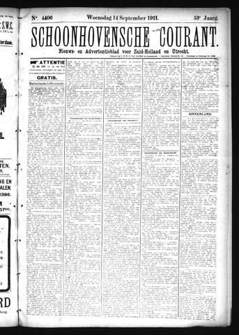 Schoonhovensche Courant 1921-09-14
