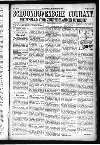 Schoonhovensche Courant 1926-12-29