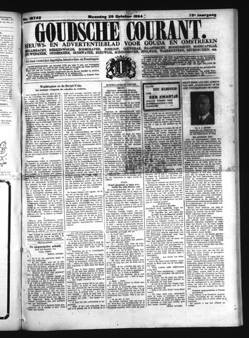 Goudsche Courant 1934-10-29