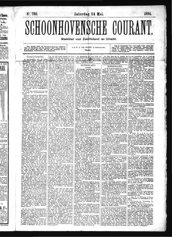 Schoonhovensche Courant 1884-05-24
