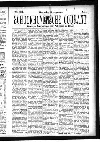 Schoonhovensche Courant 1894-08-22