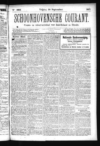 Schoonhovensche Courant 1917-09-28