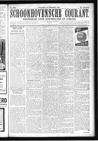 Schoonhovensche Courant 1924-09-24