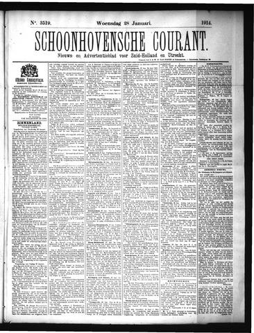 Schoonhovensche Courant 1914-01-28