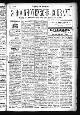 Schoonhovensche Courant 1919-02-21