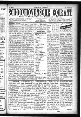 Schoonhovensche Courant 1923-04-16