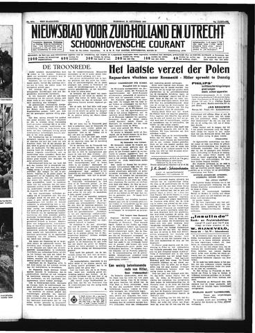 Schoonhovensche Courant 1939-09-20