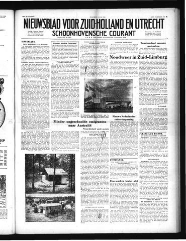 Schoonhovensche Courant 1952-07-09