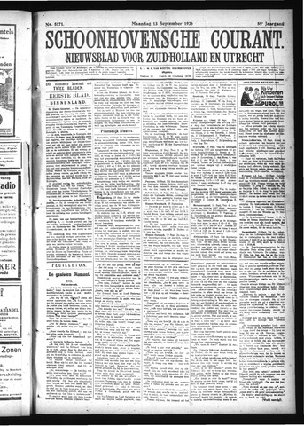 Schoonhovensche Courant 1926-09-13