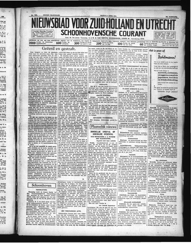 Schoonhovensche Courant 1938-04-08