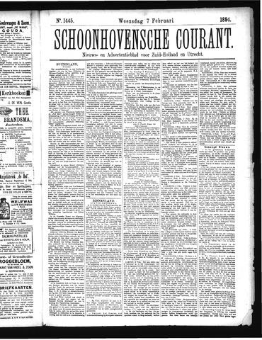 Schoonhovensche Courant 1894-02-07